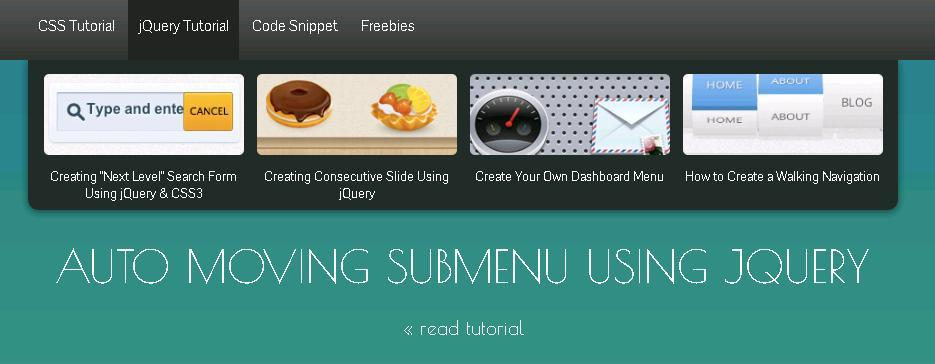 Free Sub Menu Button Animation With Jquery Web Css Jquery