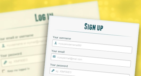 free login with registration form