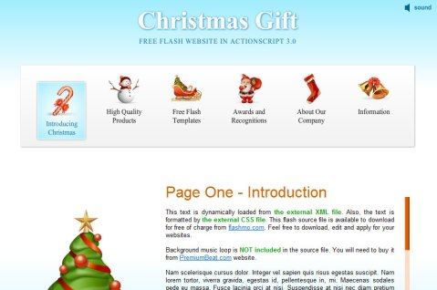 Free Christmas web templates
