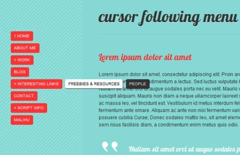 jQuery page navigation
