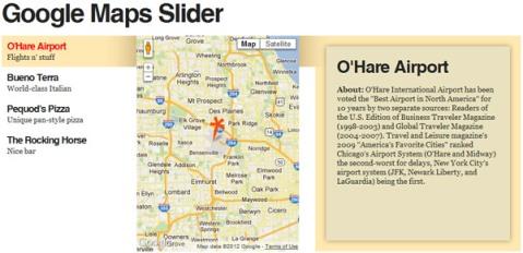 Free Google map sliding animation