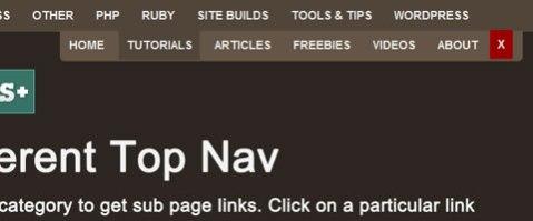 Web hide menu animation for jquery