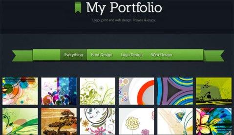 filter portfolio gallery