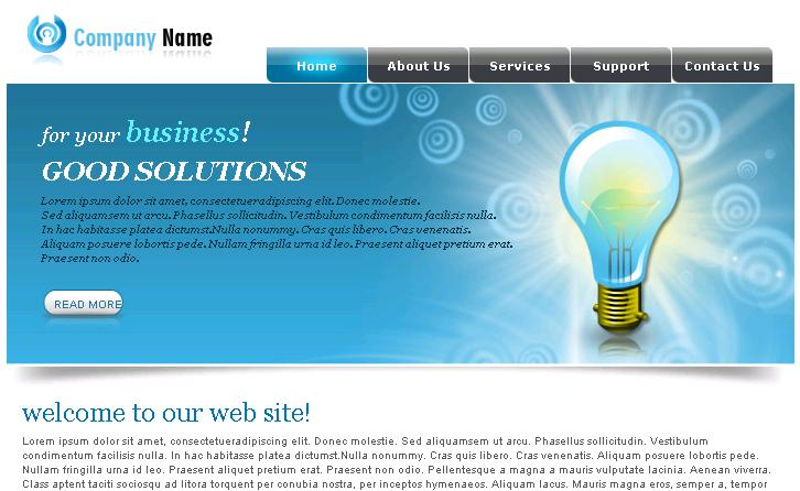 Download Web Templates. 120 free psd website templates. free web ...