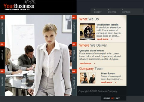 flash business web templates