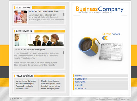 Flash template web css jquery flash business web templates free download accmission Gallery