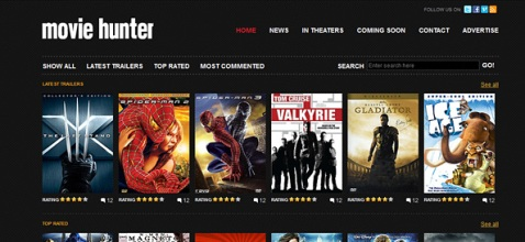 movie web template