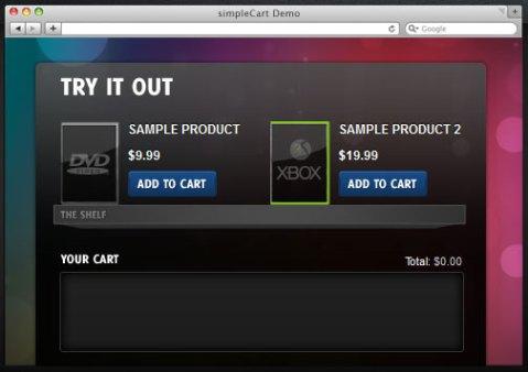 jQuery shopping cart script