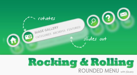 rolling animated menus