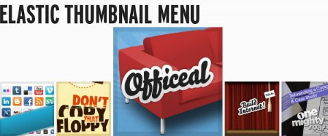thumbnail web menu