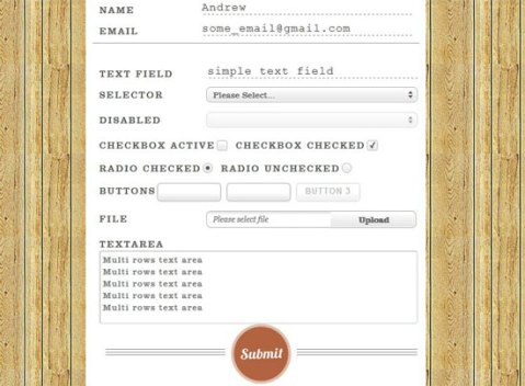 html contact form