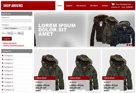 online shop templates download