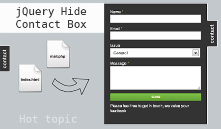 jQuery animation contact forms