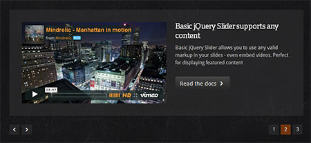 jQuery simple web banner slider