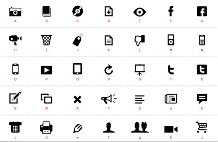 web icons fonts free download