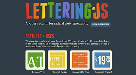 web letter animation jQuery plugin