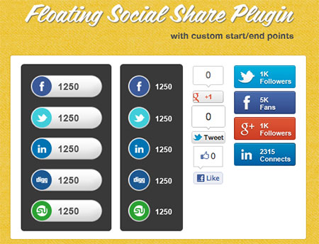 Free Social Share jQuery Plugin