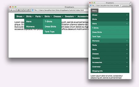 responsive dropdown menus free download