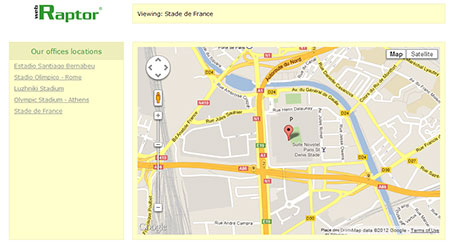 branch locator google map
