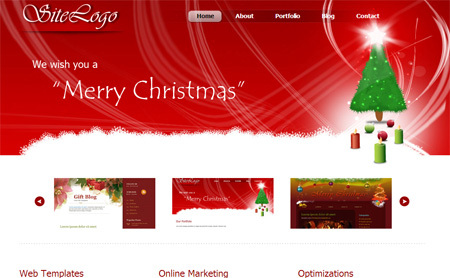 christmas website templates free download