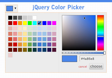 color picker with jquery plugin
