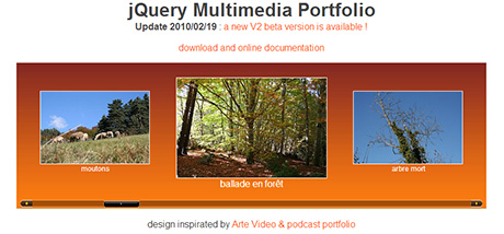 free jquery portfolio animation scroller