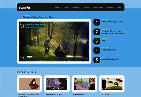 wp video blog theme download