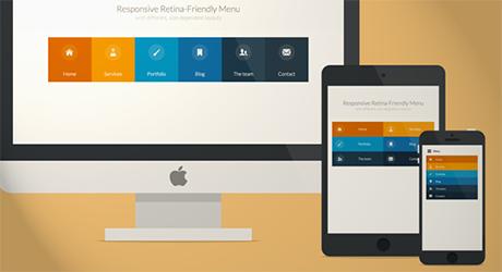 responsive web menu