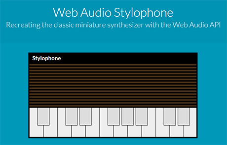 web based Web Audio Stylophone