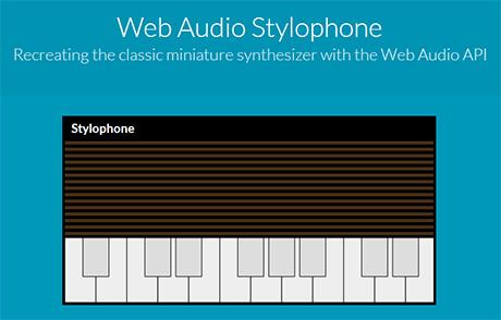 web based Web Audio Stylophone