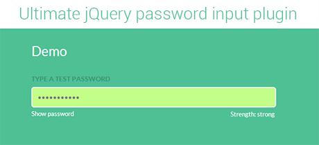jQuery password input plugin
