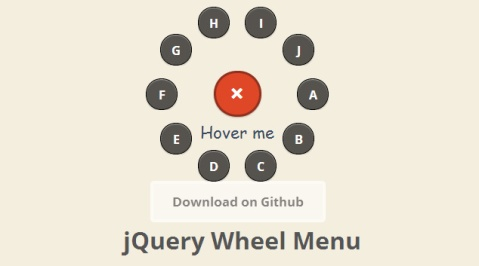 jquery animation menu