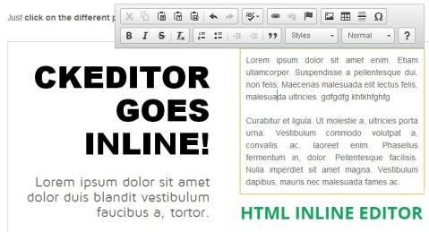 html inline editor