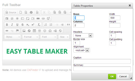 html table maker