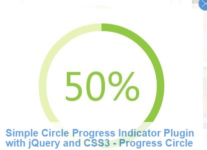 jQuery and CSS3 - Progress Circle