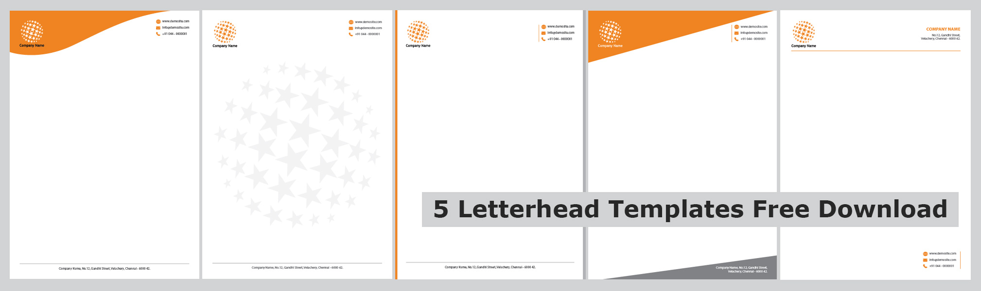 Free Letterhead Templates Amp Examples Company  OukasInfo
